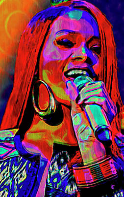 Rhythm And Blues Mixed Media - Rihanna  by  Fli Art