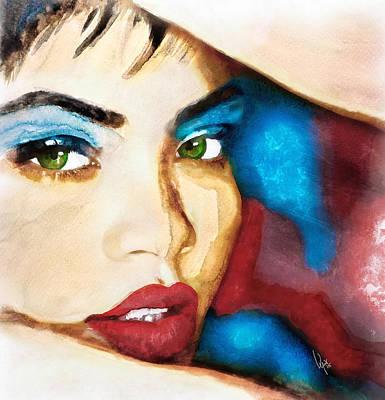 Rihanna Painting - Rihanna Like A Diamond by Vya Artist