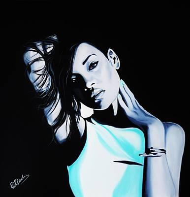 Rihanna Painting - Rihanna by Richard Garnham