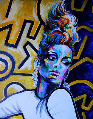 Rihanna Painting - Rihanna Rude  by Javier J Sanchez Primo Todd