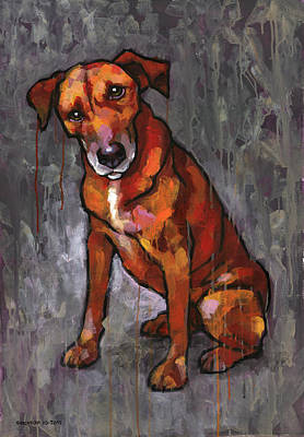 Pooch Painting - Riley by Douglas Simonson