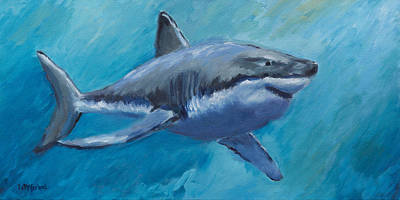 Animation Painting - Rin The Shark-children's Collection by Laurel McFarland