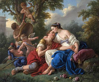 Louis-jean-francois Lagrenee Painting - Rinaldo And Armida by Louis-Jean-Francois Lagrenee