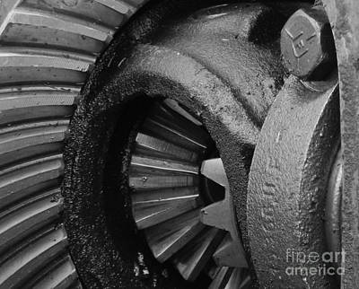 Pinion Photograph - Ring And Pinion Bw by Chalet Roome-Rigdon
