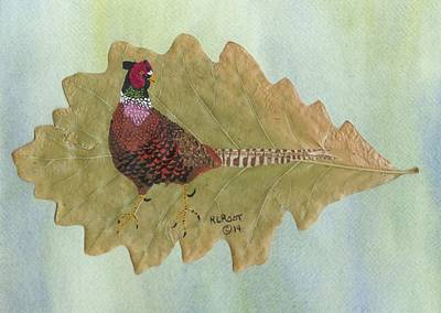 Pheasant Mixed Media - Ring Neck Pheasant by Ralph Root