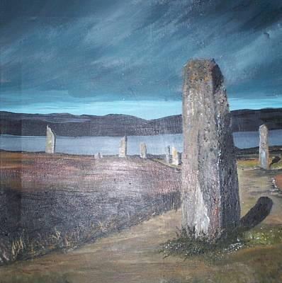 Megalith Painting - Ring Of Brogdar by Tracey Mitchell
