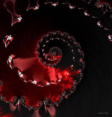 Fractal Digital Art - Ring Of Fire by Kathy Kelly