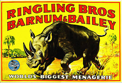 Ringling Brothers Barnum And Bailey Circus Print by Bill Cannon