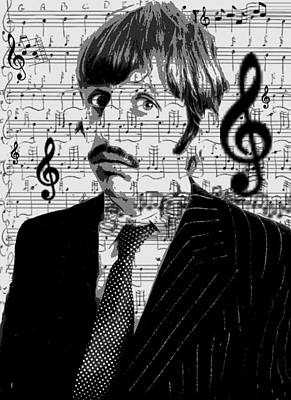 Ringo Star Of The Beatles Print by Brad Scott
