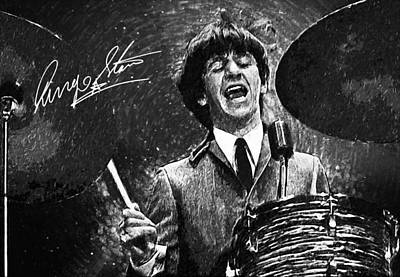 Mccartney Digital Art - Ringo Starr by Taylan Soyturk