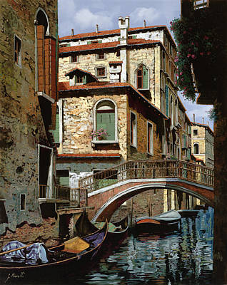 Water Reflections Painting - Rio Degli Squeri by Guido Borelli