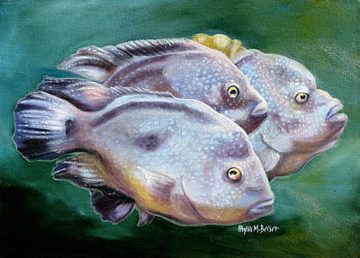 Grande Painting - Rio Grande Cichlids by Phyllis Beiser