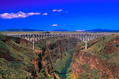 Fuji Photograph - Rio Grande Gorge Bridge Taos County Nm by Troy Montemayor