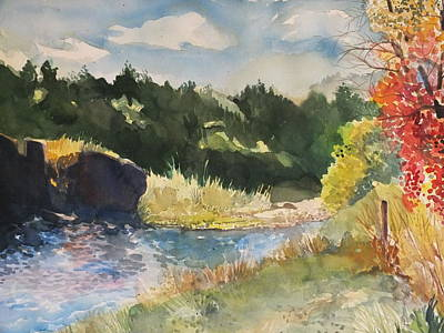 Grande Painting - Rio Grande River Fall by Milledge Bennett