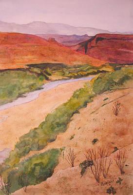 Rio Grande River Valley Print by Myrna Salaun