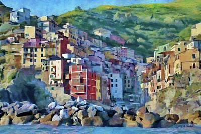 Painting - Riomaggiore by Jeff Kolker