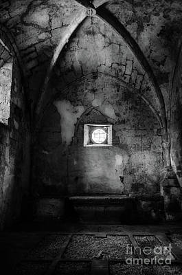 Church Photograph - Rioseco Abandoned Abbey Chapel Bw by RicardMN Photography