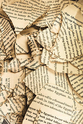 Ripped Up Pages Print by Jorgo Photography - Wall Art Gallery