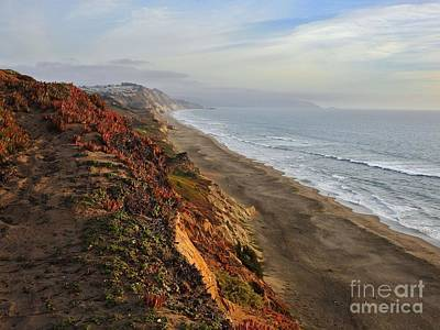 Earthtone Colored Art Photograph - Rippled By Wind And Water by Scott Cameron