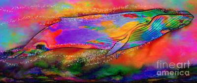 Painting - Rise Of The Rainbow Whale by Nick Gustafson