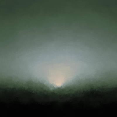 Eternity Digital Art - Rising Moon by Lonnie Christopher