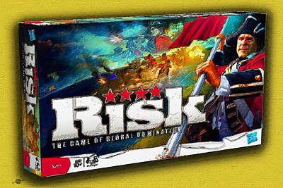 Board Game Painting - Risk Board Game Painting by Tony Rubino