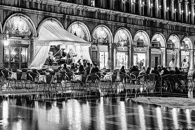 Quadri Photograph - Ristorante Quadri On Piazza San Marco - Venice by Barry O Carroll