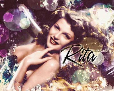 Digital Art - Rita Hayworth - Glitz by Darlanne
