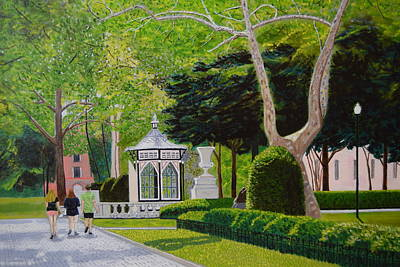 Rittenhouse Square Original by Michael Walsh
