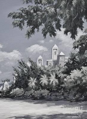 Caribbean Painting - Ritz Carlton Monochrome by John Clark