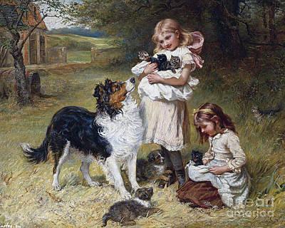 Rival Families Print by Frederick Morgan