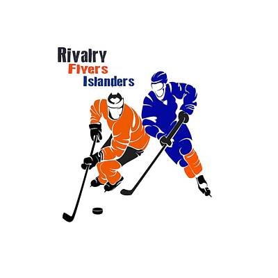 Philadelphia Flyers Photograph - Rivalry Flyers Islanders Shirt by Joe Hamilton