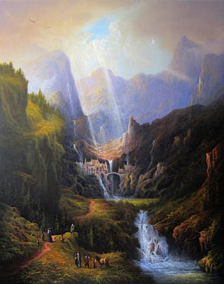 Tolkien Painting - Rivendell. The Last Homely House.  by Joe Gilronan