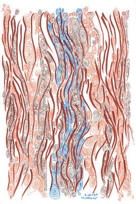 River And Woods Original by Regina Valluzzi