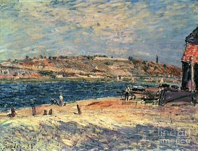 River Banks At Saint-mammes Print by Alfred Sisley