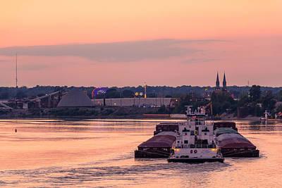 River Bend Barge Print by Andrea Kappler