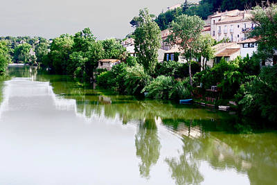 Abstract Realist Landscape Photograph - River Beziers France by Pearse Gilmore