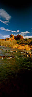 River Flowing Through Rocks, Red Rock Print by Panoramic Images