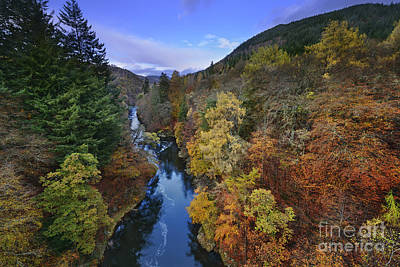 River Garry - Scotland Print by Rod McLean