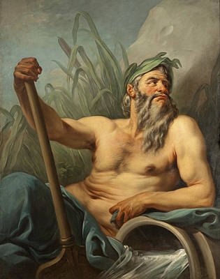 Charles-andre Van Loo Painting - River God by Charles-Andre van Loo