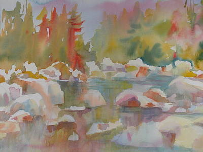 River In The Fall Original by Linda Emerson