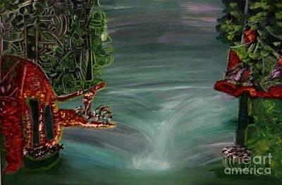 Bridge Painting - River Island by Stephanie Zelaya