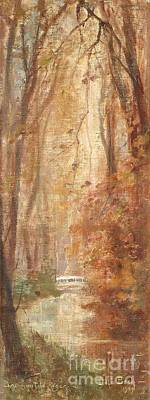 Christ Painting - River Landscape From Beaumont by Julia Beck