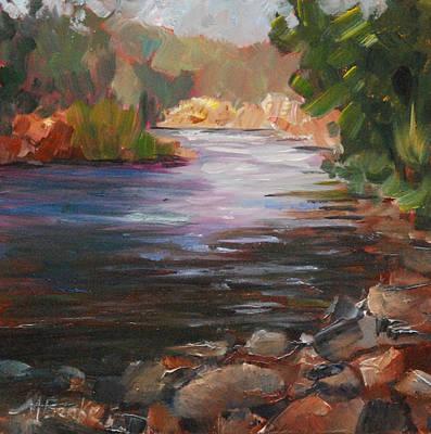 River Light Print by Mary Benke