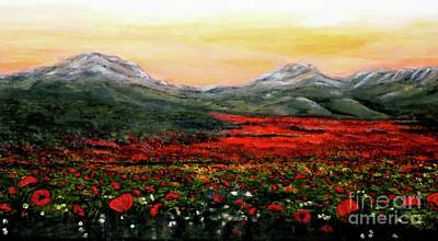 Poppies Painting - River Of Poppies by Judy Kirouac