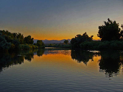 Colorado Sunset Photograph - River Sunset by Ernie Echols