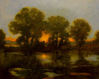 Painting - River Sunset by Jan Blencowe