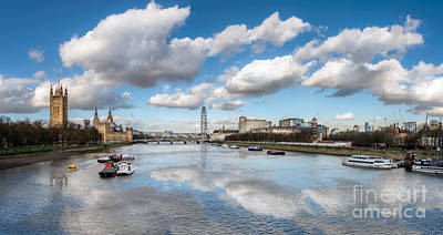 Great Britain Digital Art - River Thames London by Adrian Evans