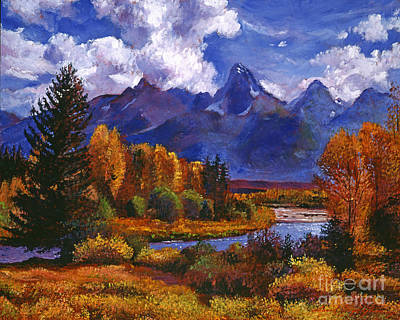 River Valley Print by David Lloyd Glover