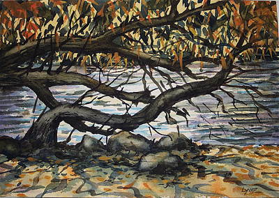 River Willow 2 Print by Lynne Haines